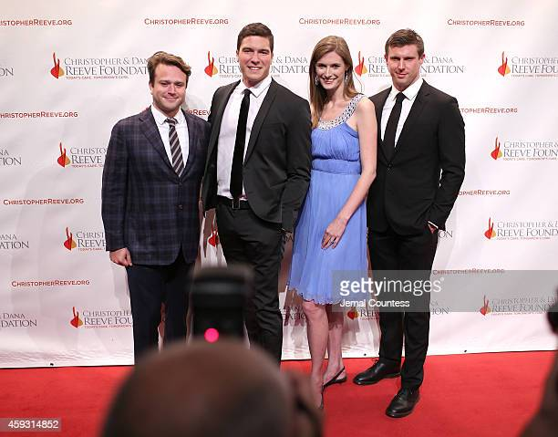 Zak Williams William Reeve Alexandra Reeve Givens Matthew Reeve attend The Christopher Dana Reeve Foundation Hosts A Magical Evening on November 20...