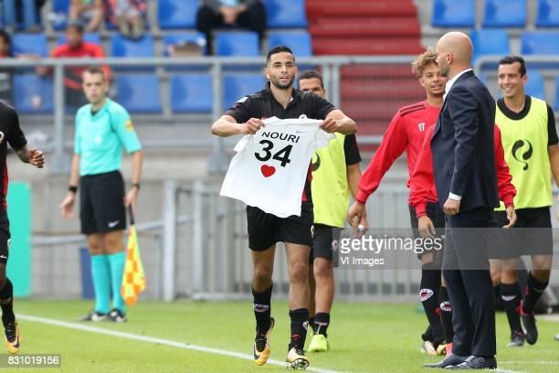 Zakaria Azzouzi of Excelsior Abdelhak Nouri during the Dutch Eredivisie match between Willem II Tilburg and sbv Excelsior at Koning Willem II stadium...