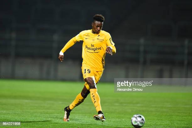 Zakaria Diallo of Brest during the Ligue 2 match between Nimes Olympique and Stade Brestois at on October 20 2017 in Nimes France