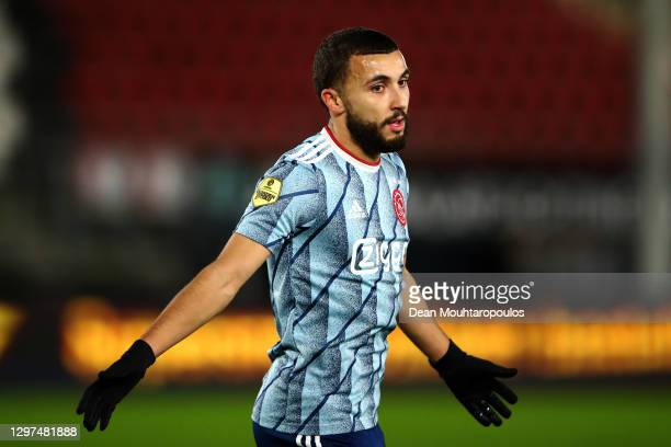 Zakaria Labyad of Ajax celebrates scoring his teams first goal of the game during the KNVB Beker or Dutch Cup match between AZ Alkmaar and AFC Ajax...