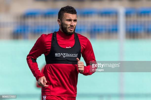 Zakaria Labyad of Morocco during a training session prior to the International friendly match between Morocco and Oezbekistan in Cassablanca on March...