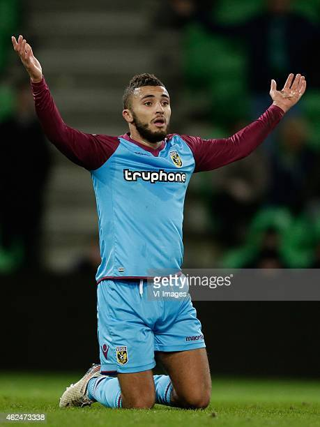 Zakaria Labyad of Vitesse during the Dutch Cup match between FC Groningen and Vitesse Arnhem at Euroborg on January 28 2015 in Groningen The...