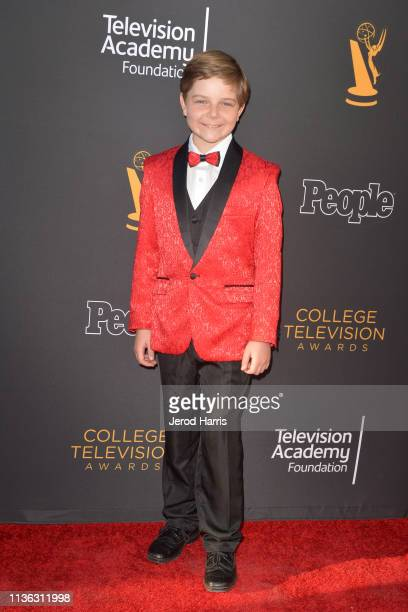 Zakary Risinger attends The Television Academy Foundation's 39th College Television Awards at Wolf Theatre on March 16 2019 in North Hollywood...