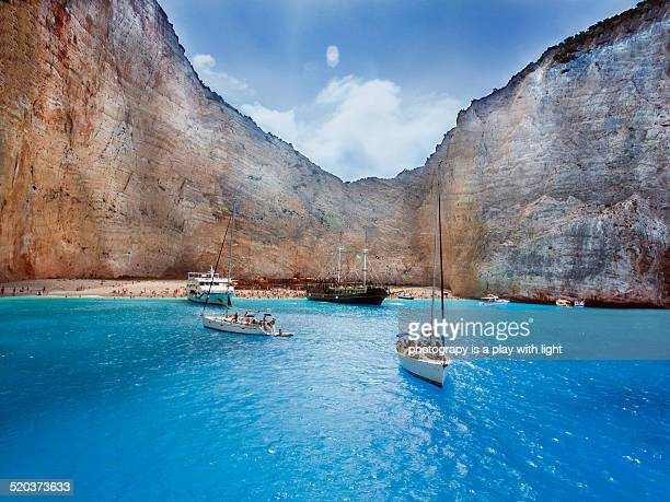 zakinthos island - greek islands stock pictures, royalty-free photos & images