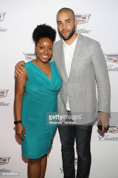 Zakiya Ali and Josh Ott attend the Cadillac Welcome Luncheon At ABFF Black Hollywood Now The Temple House on June 13 2018 in Miami Beach Florida