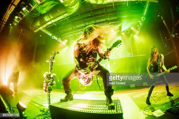 Zakk Wylde and Dario Lorina of Black Label Society perform in concert at Razzmatazz during Route Resurrection on March 14, 2018 in Barcelona, Spain.
