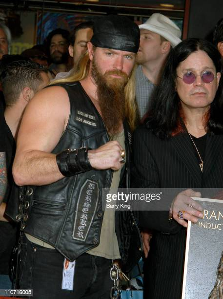 Zakk Wylde and Ozzy Osbourne during Guitarist Randy Rhoads Posthumously Inducted Into Hollywood's Rockwalk at The Rockwalk in Hollywood California...