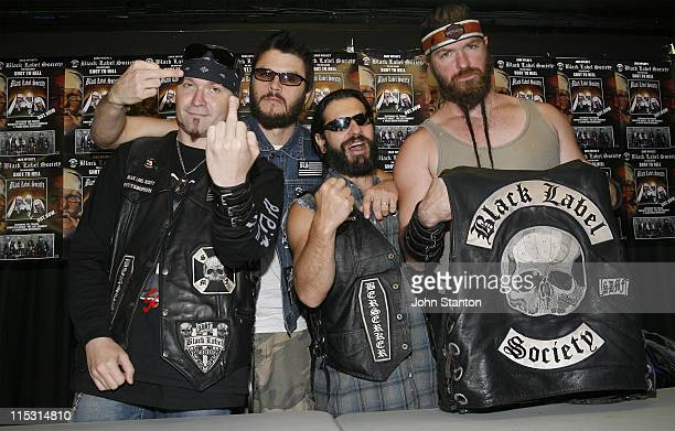 Zakk Wylde and The Black Label Society during Zakk Wylde and Black Label Society Sign Their New Album at Utopia Records - September 26, 2006 at...