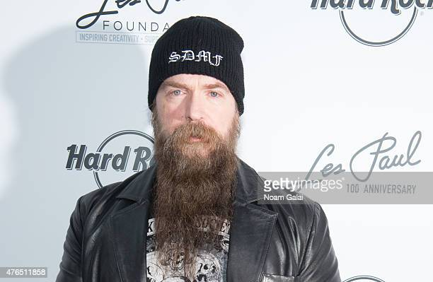 Zakk Wylde attends Les Paul's 100th anniversary celebration at Hard Rock Cafe Times Square on June 9 2015 in New York City