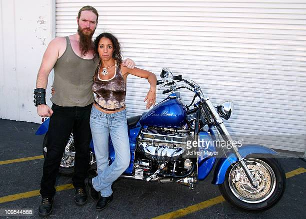 Zakk Wylde & Dida- Exec. Dir. Of B.A.D.D. Before Ozzy Osbourne signs a 2003 Boss Hoss motorcycle for B.A.D.D. -Bikers Against Drunk Drivers to be...