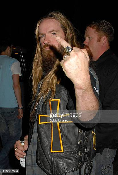 Zakk Wylde during MOJO Honours List 2007 Departures at The Brewery in London Great Britain
