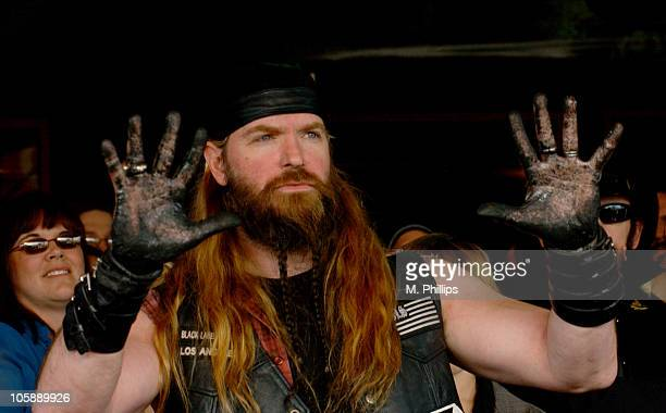 Zakk Wylde during Zakk Wylde RockWalk Induction in Los Angeles California United States