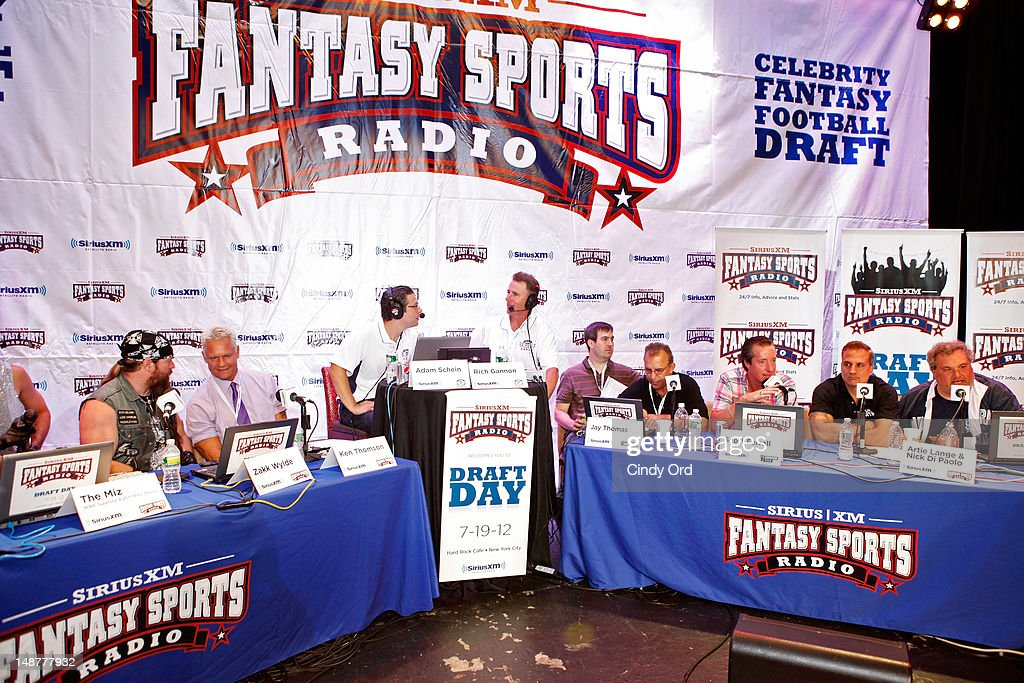 Sirius XM Annual Celebrity Fantasy Football Draft : News Photo