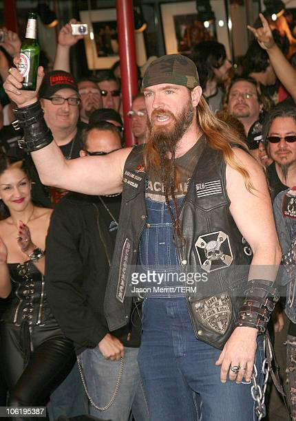Zakk Wylde of Black Label Society during Dimebag Darrell Abbott Posthumously Inducted into Hollywood's Rockwalk at Hollywood Rockwalk in Hollywood...
