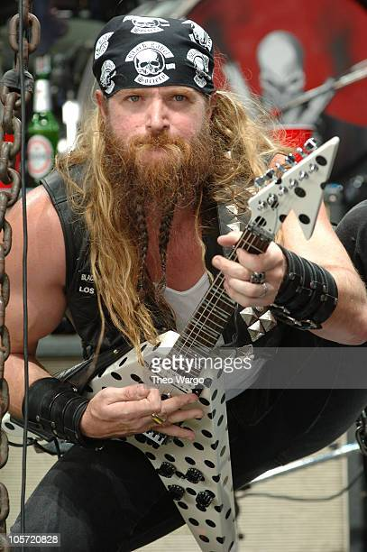 Zakk Wylde of Black Label Society during OZZFEST 2005 at the PNC Arts Center in Holmdel July 26 2005 at PNC Arts Center in Holmdel New Jersey United...