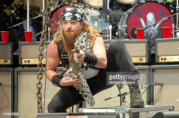 Zakk Wylde of Black Label Society during OzzFest 2005 PNC Bank Arts Center in Holmdel July 26 2005 at PNC Bank Arts Center in Holmdel New Jersey...