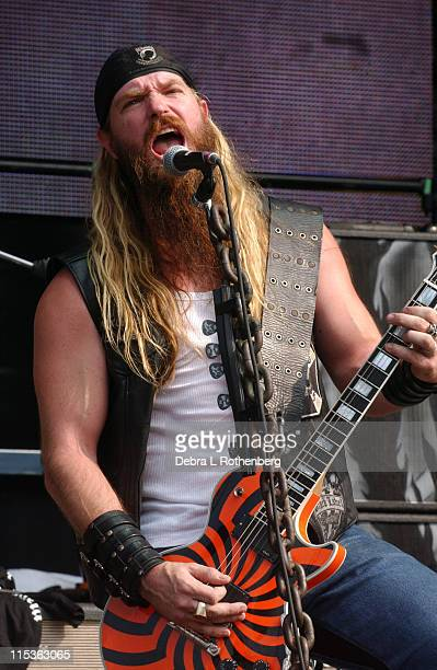Zakk Wylde of Black Label Society during Ozzfest - July 14, 2004 at Jones Beach in Wantaugh, New York, United States.