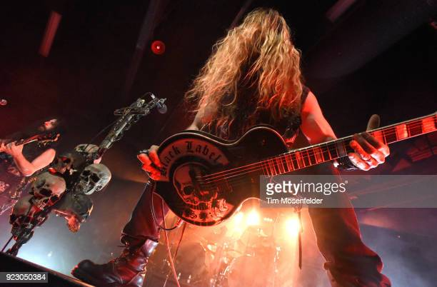 Zakk Wylde of Black Label Society performs in support of the band's release 'Grimmest Hits' at Ace of Spades on February 21 2018 in Sacramento...