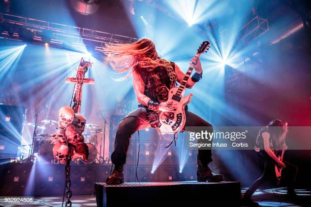 Zakk Wylde of Black Label Society performs on stage at Alcatraz on March 16, 2018 in Milan, Italy.