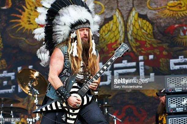 Zakk Wylde of Black Label Society performs on stage during Download Festival at Donington Park on June 10, 2012 in Castle Donington, United Kingdom.
