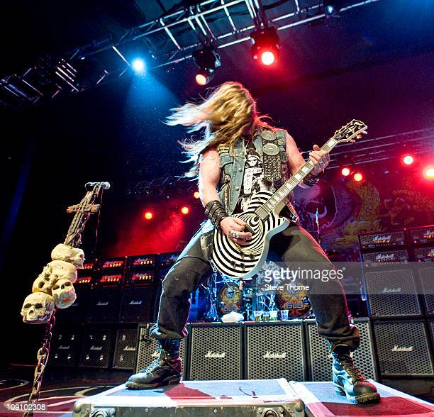 Zakk Wylde of Black Label Society performs on stage during the first night of their UK tour at O2 Academy on February 14, 2011 in Birmingham, England.