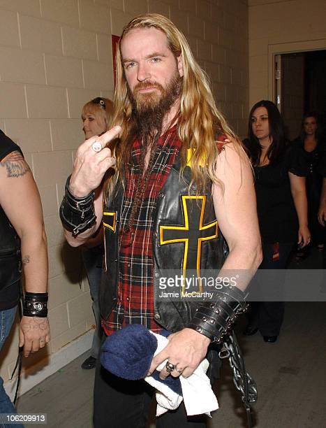 Zakk Wylde of Ozzy Osbourne's band during 2007 VH1 Rock Honors Backstage at Mandalay Bay in Las Vegas Nevada United States