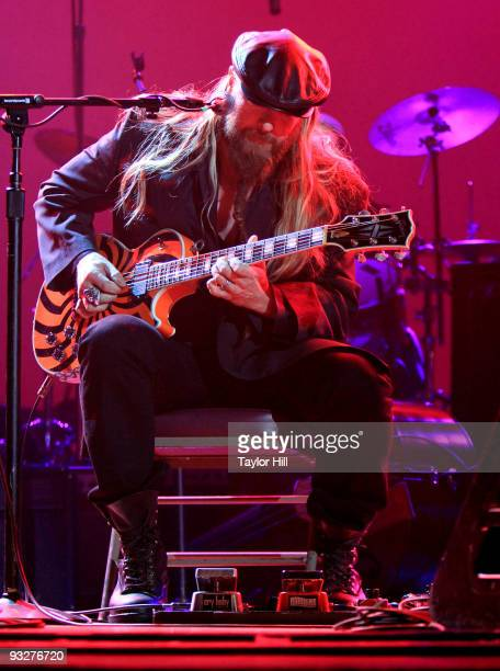 Zakk Wylde performs at the Les Paul Tribute Concert at Ryman Auditorium on November 19 2009 in Nashville Tennessee