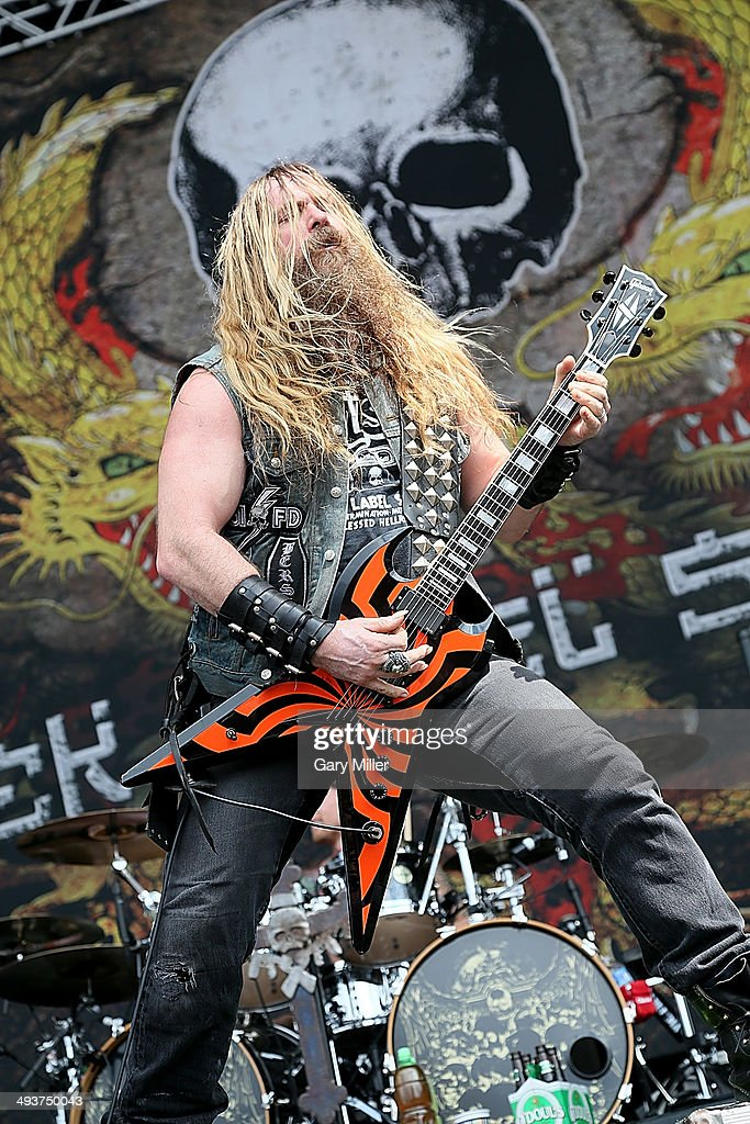 Zakk Wylde performs in concert with Black Label Society during the River City RockFest at the at&t Center on May 24, 2014 in San Antonio, Texas.