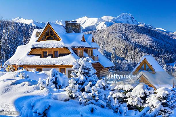 zakopane in winter, poland - poland stock pictures, royalty-free photos & images
