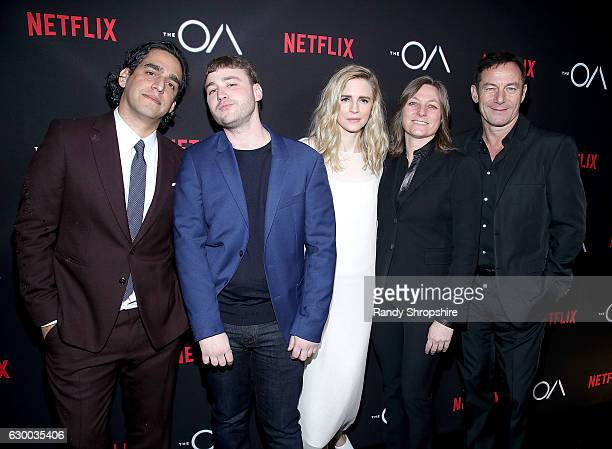 Zal Batmanglij Emory Cohen Brit Marling Cindy Holland and Jason Isaacs arrive to the premiere of Netflix's The OA at the Vista Theatre on December 15...