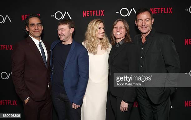Zal Batmanglij Emory Cohen Brit Marling Netflix Vice President of Original Content Cindy Holland and Jason Isaacs attends the premiere of Netflix's...