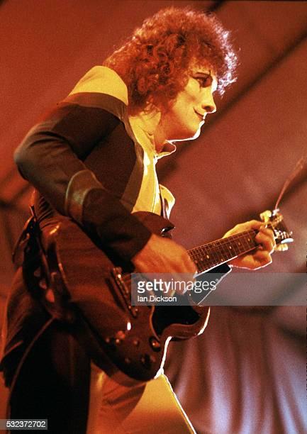 Zal Cleminson of Sensational Alex Harvey Band performing on stage, London, United Kingdom, 1974.
