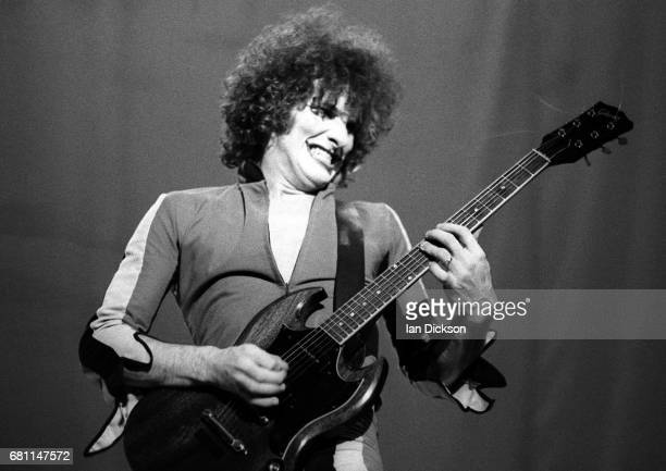 Zal Cleminson of The Sensational Alex Harvey Band performing on stage at London, Music Festival, Alexandra Palace, London, 05 August 1973. He is...