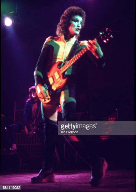 Zal Cleminson of The Sensational Alex Harvey Band performing on stage at Hammersmith Odeon, London, 24 May 1975.