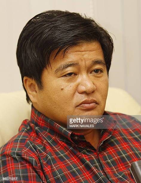 Zaldy Ampatuan governor of a huge Muslim autonomous region issues a statement at his mansion in Shariff Aguak Maguindanao province on November 29...