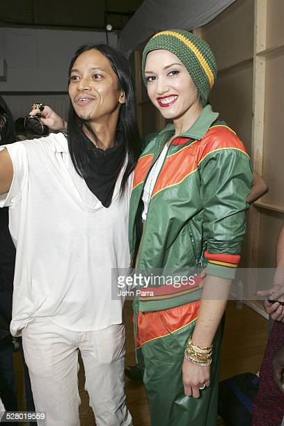 Zaldy designer and Gwen Stefani during Olympus Fashion Week Spring 2006 Zaldy Front Row and Backstage at The Altman Building in New York City New...