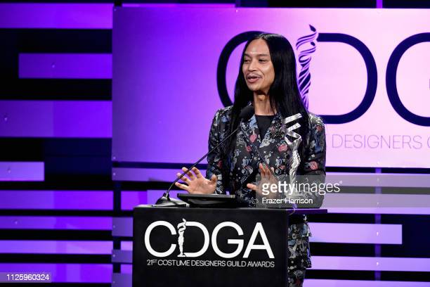 Zaldy Goco accepts the Excellence in Variety RealityCompetition Live Television award for 'RuPaul's Drag Race' onstage during The 21st CDGA at The...