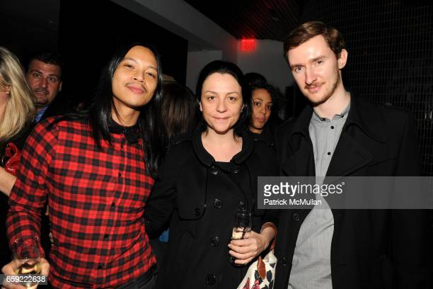 Zaldy Kelly Cutrone and Dimitry Komis attend MERCEDESBENZ FASHION WEEK Opening Night Party at Shang at The Thompson LES Hotel on February 13 2009 in...