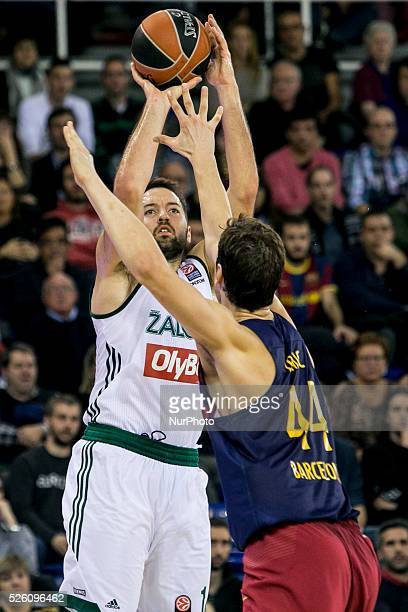 Barcelona Catalonia Spain December 12 Zalgiris's Ian Vougioukas in action during the Turkish Airlines Euroleague match between FC Barcelona and...