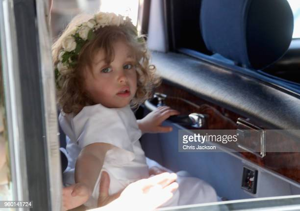 Zalie Warren arrives at the wedding of Prince Harry to Ms Meghan Markle at St George's Chapel Windsor Castle on May 19 2018 in Windsor England Prince...