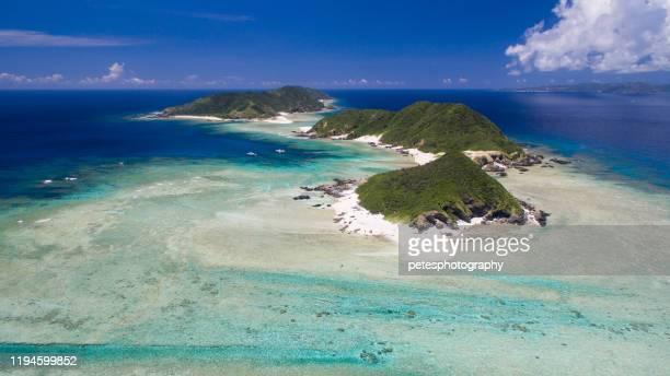 zamami island keramas - okinawa prefecture stock pictures, royalty-free photos & images