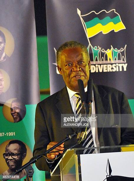 Zambai's President Michael Sata speaks at a Gala Dinner in Bloemfontein on January 7 2012 South Africa's mighty African National Congress on January...