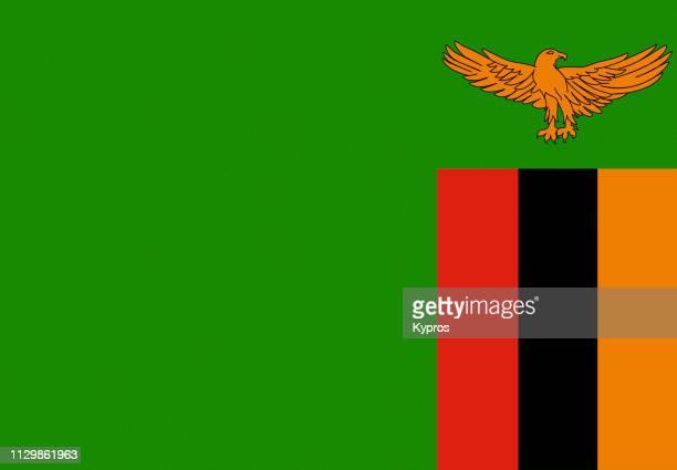 zambia flag - ザンビア ストックフォトと画像