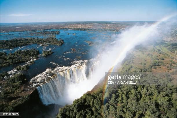 Zambia - Mosi-oa-Tunya National Park - Victoria Falls, UNESCO's World Heritage Site,1989 - Rainbow.