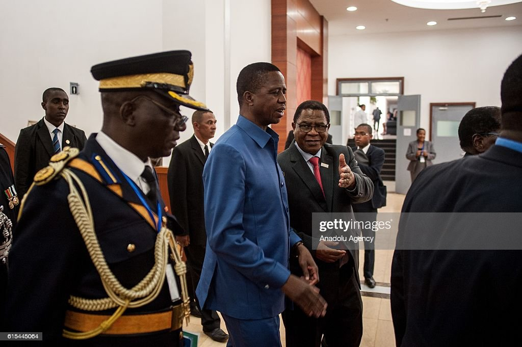 Zambian President Edgar Lungu (C) attends Summit 2016 of The Common Market For Eastern and Southern Africa (COMESA) at Ivato Conference Centre in Antananarivo, Madagascar on October 18, 2016.