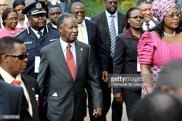 Zambian President Michael Sata arrives at the 32nd summit of Southern African Development Community at Maputo's Joaquim Chissano Conference Centre on...