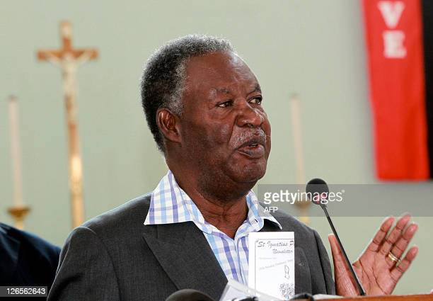 Zambia's new President Michael Sata speaks at St Ignatius Catholic Church in Lusaka on September 25 2011 Sata the first elected Catholic head of...