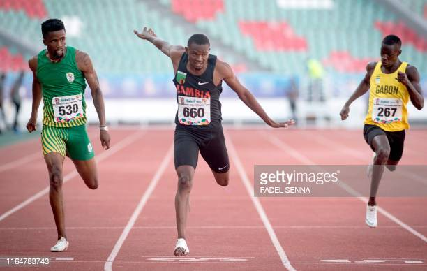 Zambia's Sydney Siame competes during the Men's 5000m Final at the 12th edition of the African Games in Rabat on August 30 2019