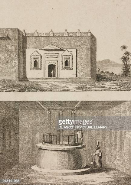 Zamzam Well Mecca Saudi Arabia engraving by Fleury from Arabie by Noel Desvergers avec une carte de l'Arabie et note by Jomard L'Univers pittoresque...
