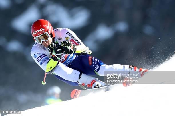 Zan Kranjec of Slovenia competes during the Audi FIS Alpine Ski World Cup Men's Giant Slalom at Rettenbachferner on October 27 2019 in Soelden Austria